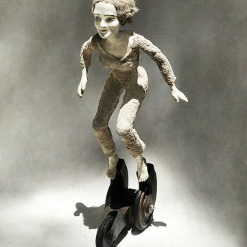 "Going Places by Rose Sellery, $1200, Mixed Media & Found Objects, 20.5"" x 8.75"" x 8.5"""