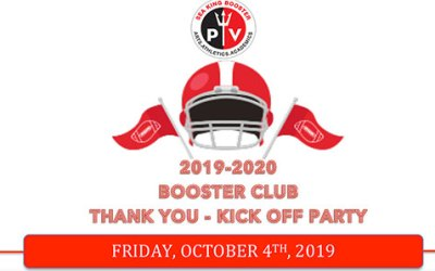 Booster Club Thank You & Kick-Off Party 2019 | October 4th