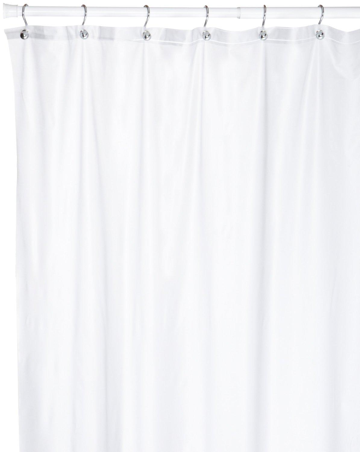 Clear Vinyl Shower Curtain Liner Frosty