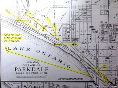 1887-8 Humber Bay from Dowling Ave Castle Parkdale (8) Goads 1884 map_tn