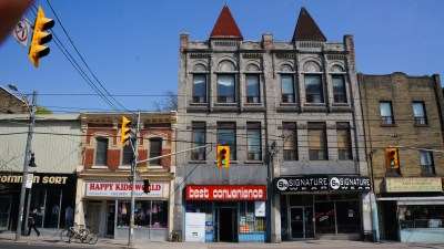 2. The building at 1410 Queen St W is probably the most architecturally complex and refined building in Parkdale. It was built in 1889, Parkdale's final year of independence, reflecting both Parkdale's adventurous spirit and the grandeur of Toronto. We will explore this architecture and similar buildings in a subsequent article.