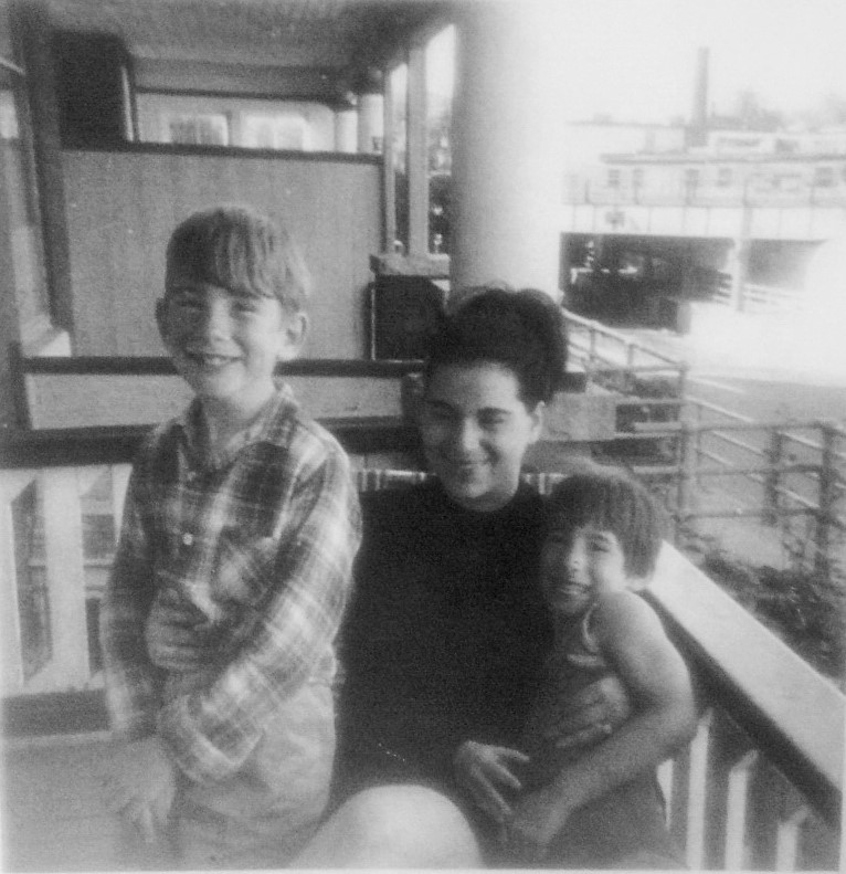 b 70 Brock St 1969. Sunny Clark. That's my mother, Janet Croteau Trimbee Klein (1942-2015) on her porch at 70 Brock A with son Mark and daughter Susan