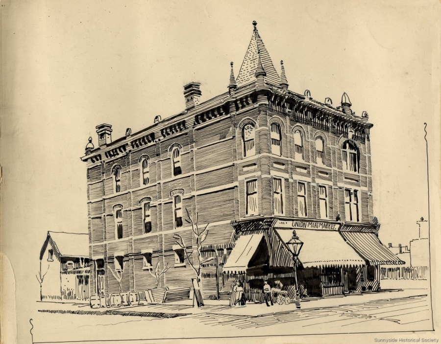 q 1400 Queen St W 1890 Union Meat Market, Queen St. W., n.e. corner O'Hara Av Tor Pub Lib