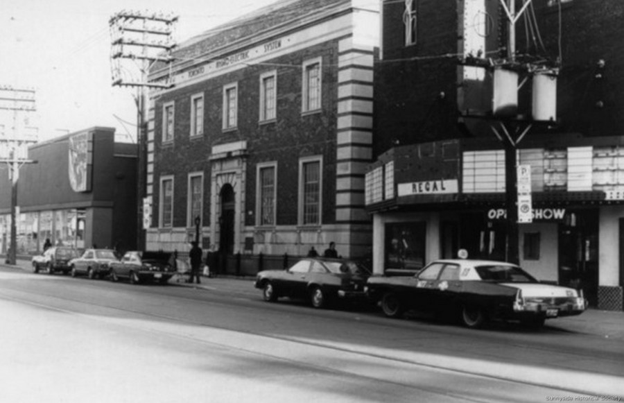 q 1457 Queen St W 1931 Hydro beside 1475 Parkdale Odeon Theatre