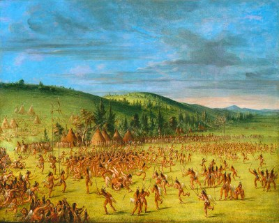 1600 c Lacrosse was played here by the Wendat ( huron) until they were caught up in European wars and dispersed to Quebec and the southern USA. Origin and History of Lacrosse Ball Game by George Catlin