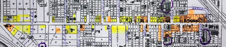 Preservation areas.1884 Goads Map