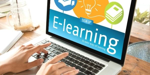 eLearning image on a laptop