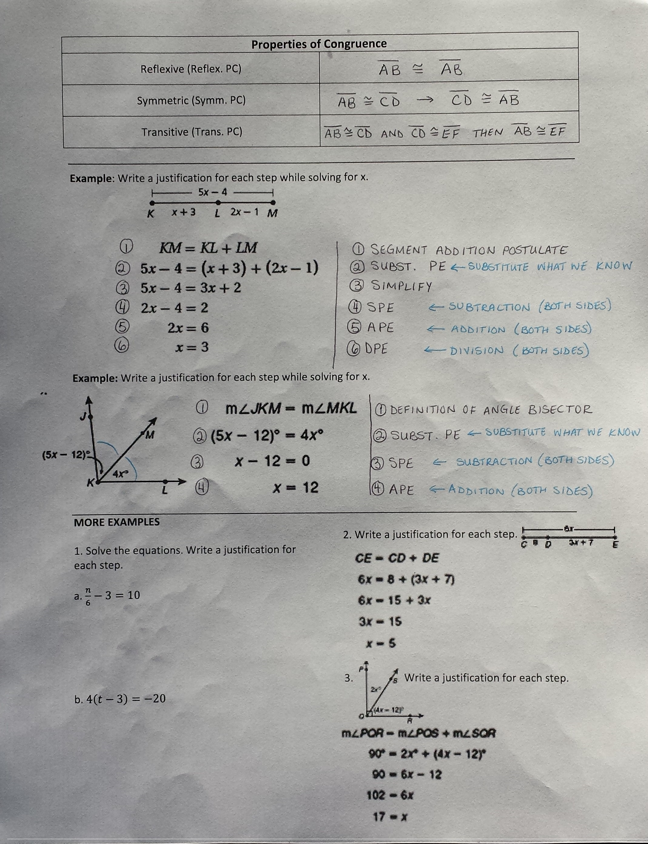 Angle Proofs Worksheet With Answers