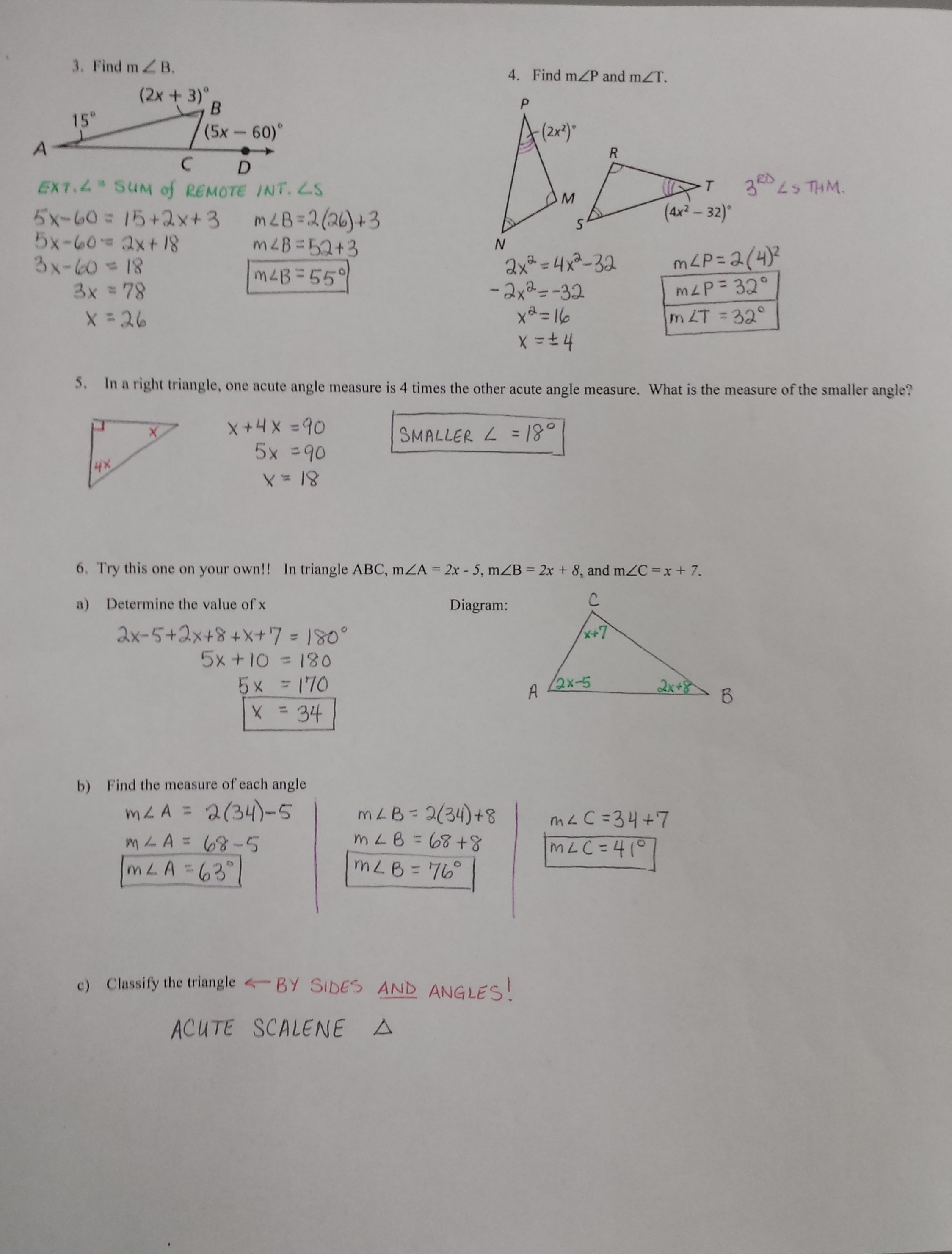 Course 2 Chapter 7 Geometric Figures Lesson 3 Homework Practice