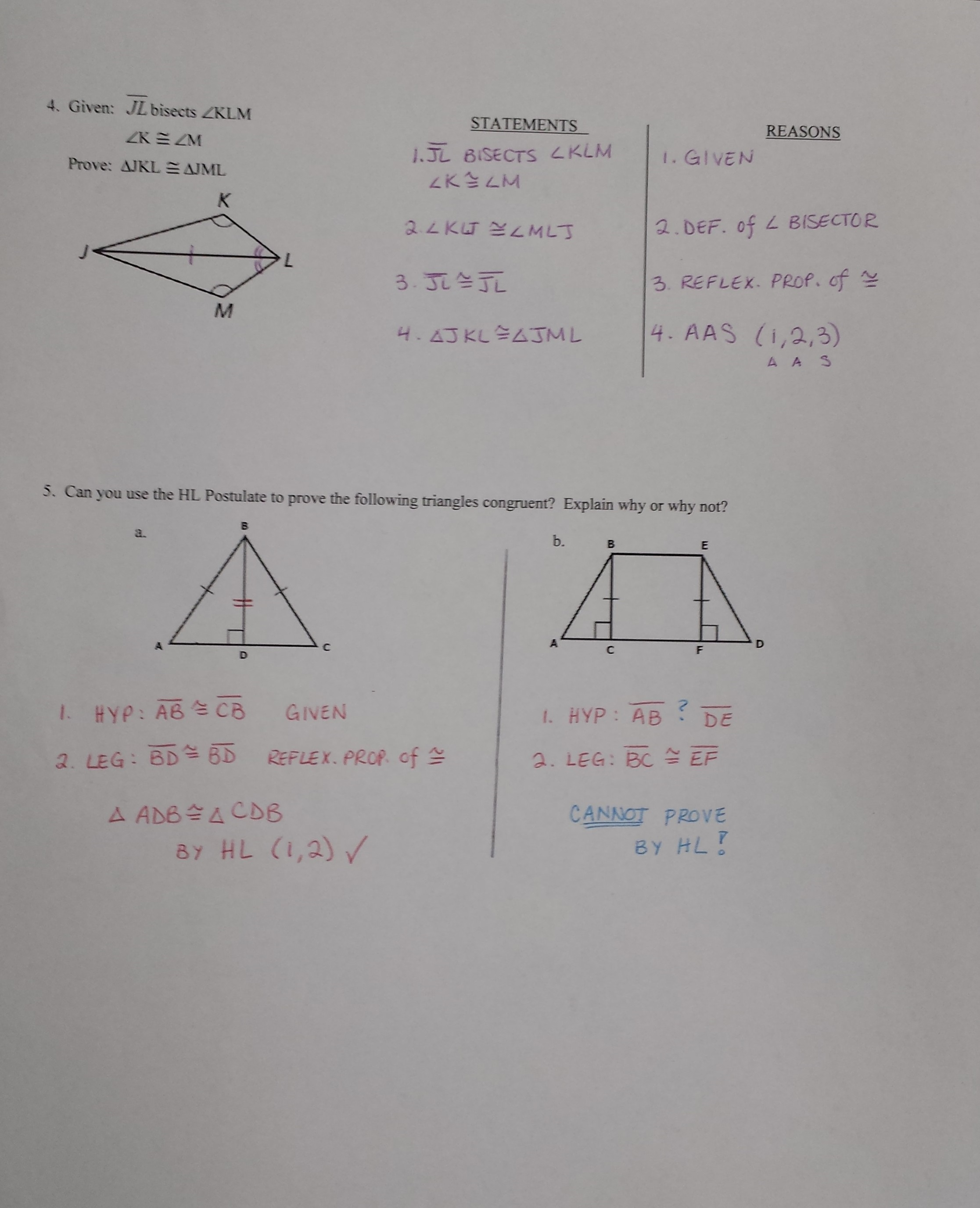 4 4 Proving Triangles Congruent Sss Sas Worksheet Answers