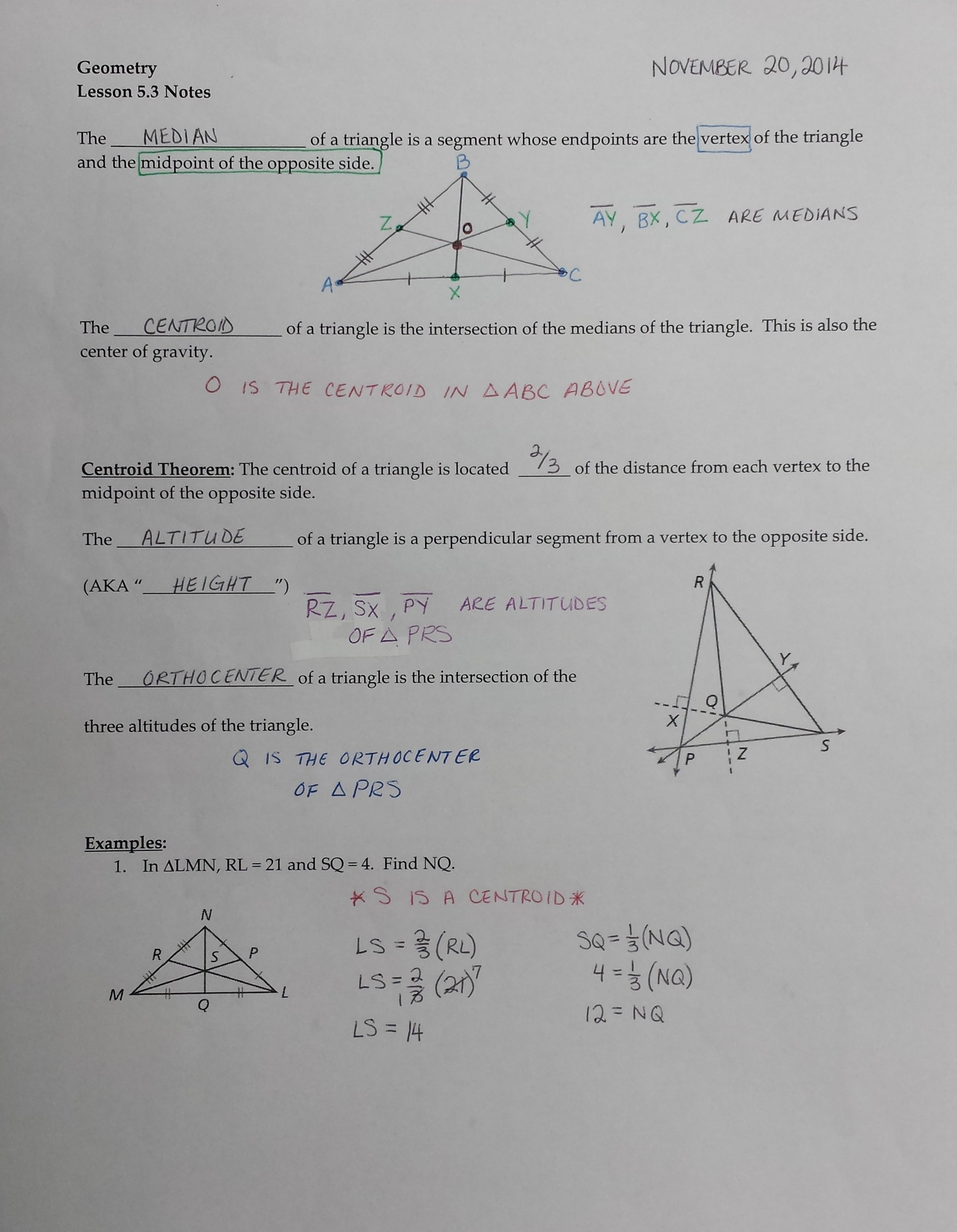 Worksheet Medians Of A Triangle Worksheet Worksheet Fun