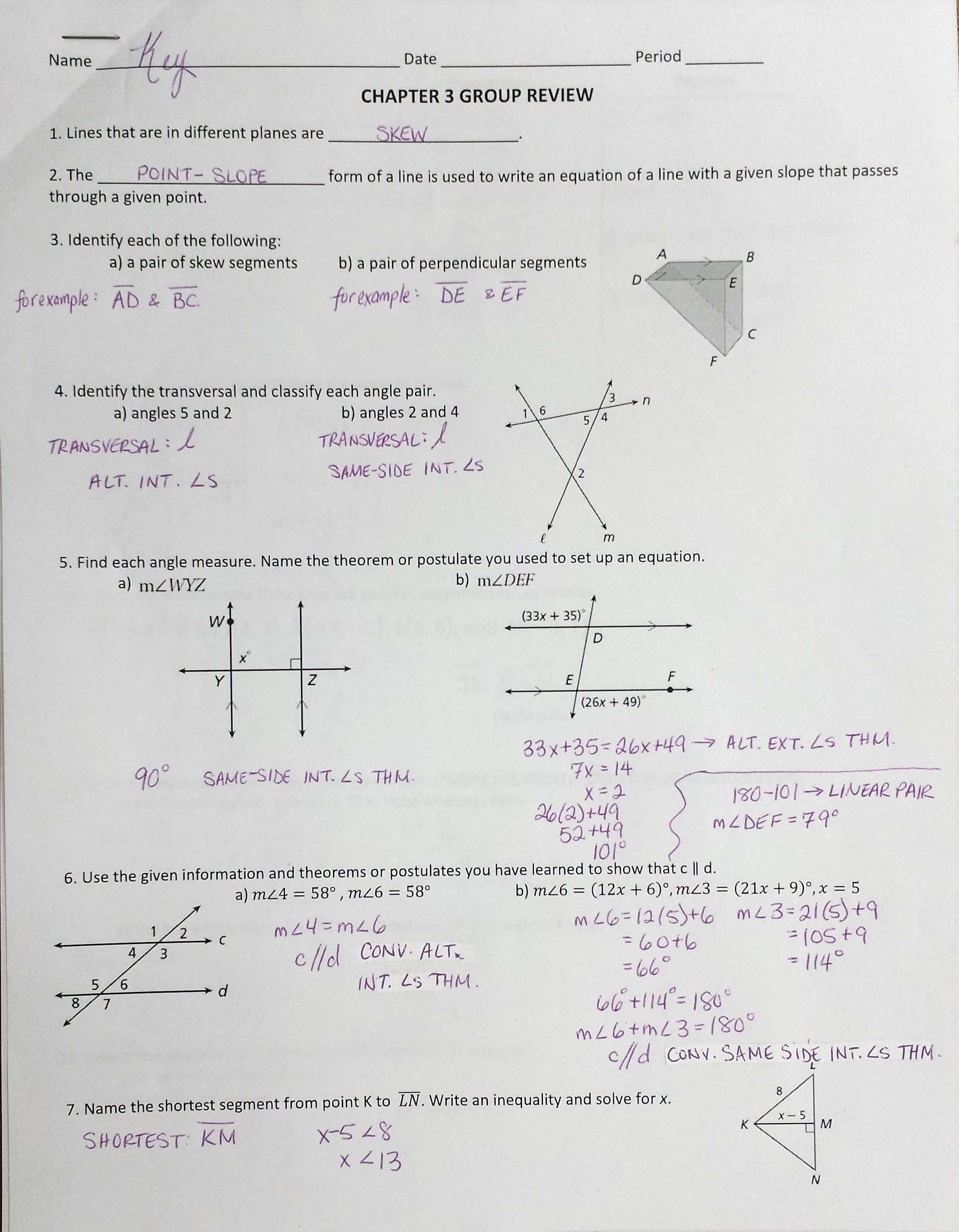 Bestseller Geometry Chapter 5 Study Guide Answers