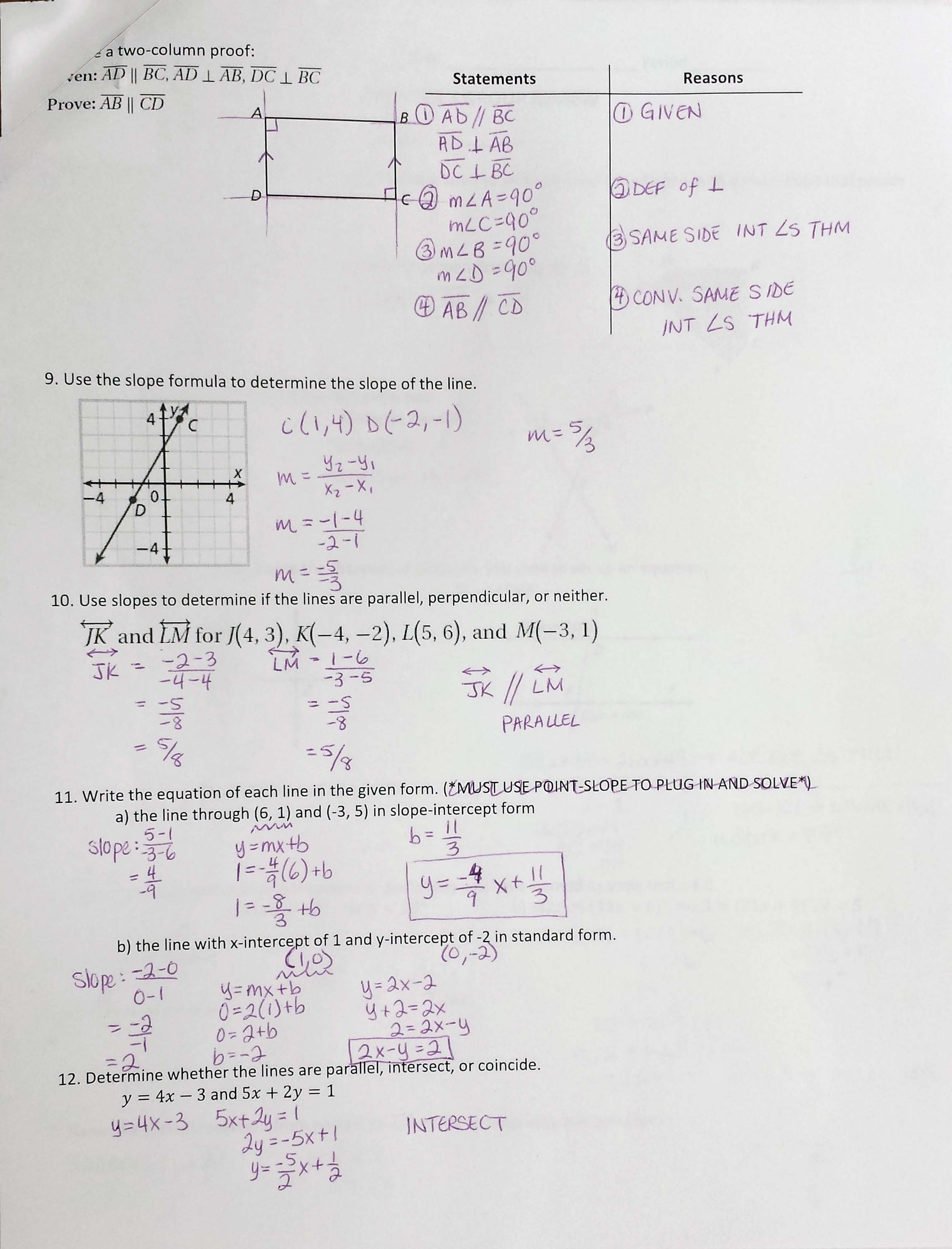 Worksheet Graphing Quadratic Functions A 3 2 Answer Key