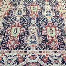 Traditional Navy and Beige Oushak Rug Scottsdale AZ PV Rugs Overview