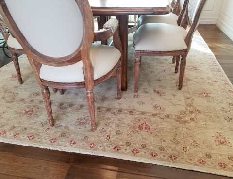 Oriental Rug Dining Room Setting Scottsdale AZ PV Rugs
