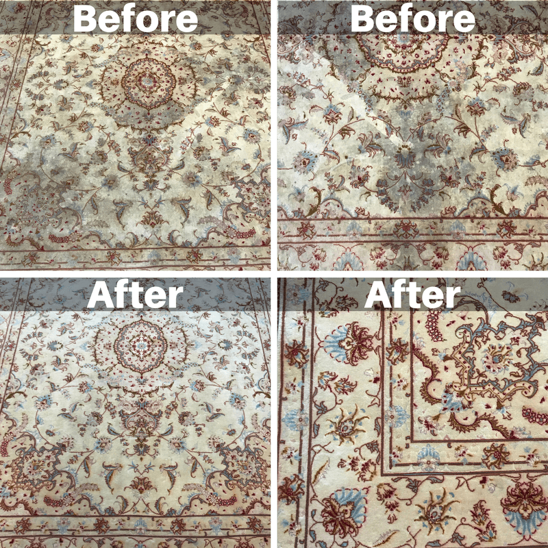 Picked up a customers rug in phoenix. These are before and after shots of getting their rug cleaned.