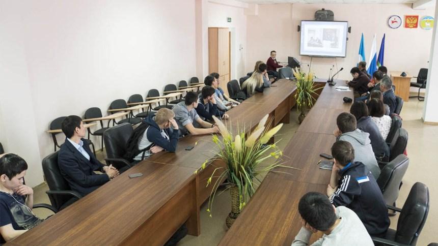 Презентация проекта в Горно-геологическом техникуме. п. Хандыга. 2 апреля 2018 г.
