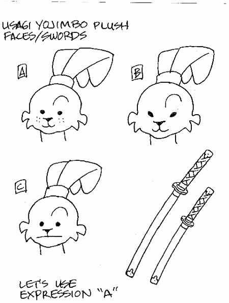 5-Usagi Plush Faces