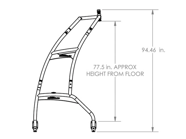 WAKEBOARD TOWER UNIVERSAL FOLDING FOR PONTOON BOATS