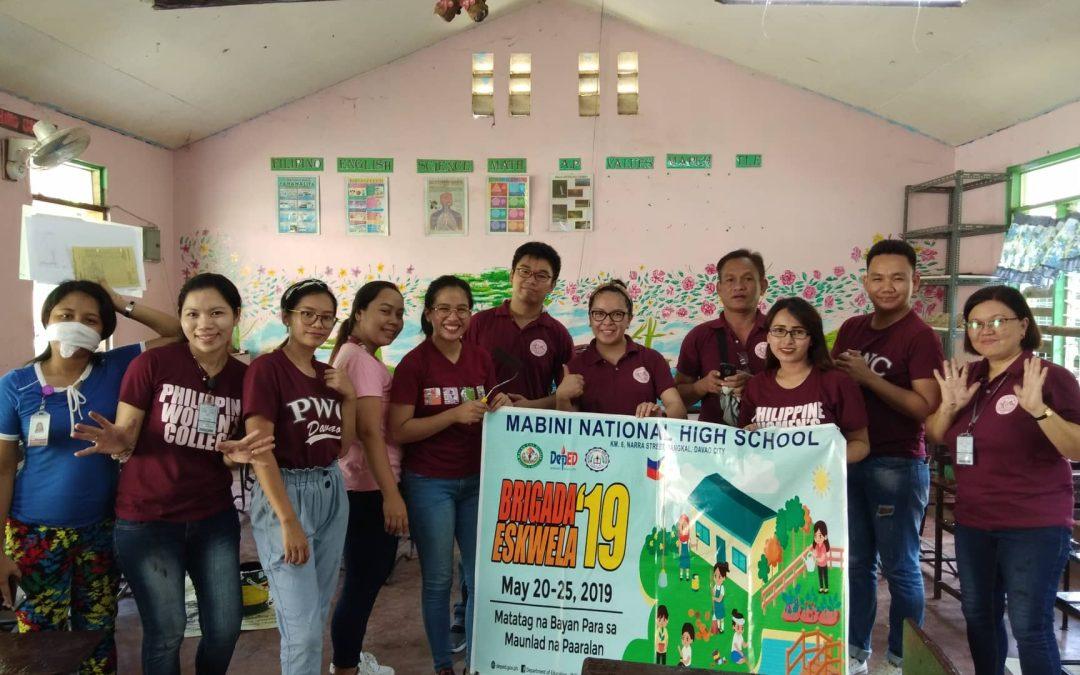 PWC personnel take part in Brigada Eskwela 2019