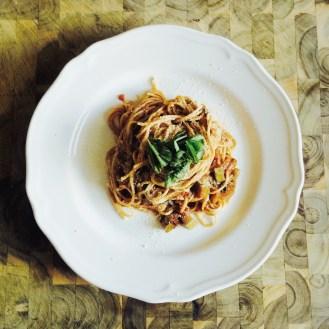 Zucchini and Basic Spaghetti