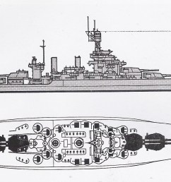 schematic diagram of colorado class battleship [ 2052 x 1096 Pixel ]