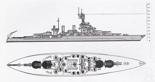 small resolution of schematic diagram of colorado class battleship