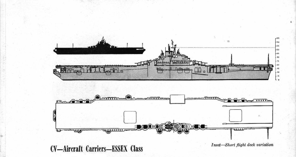 medium resolution of schematic diagram of essex class fleet carrier