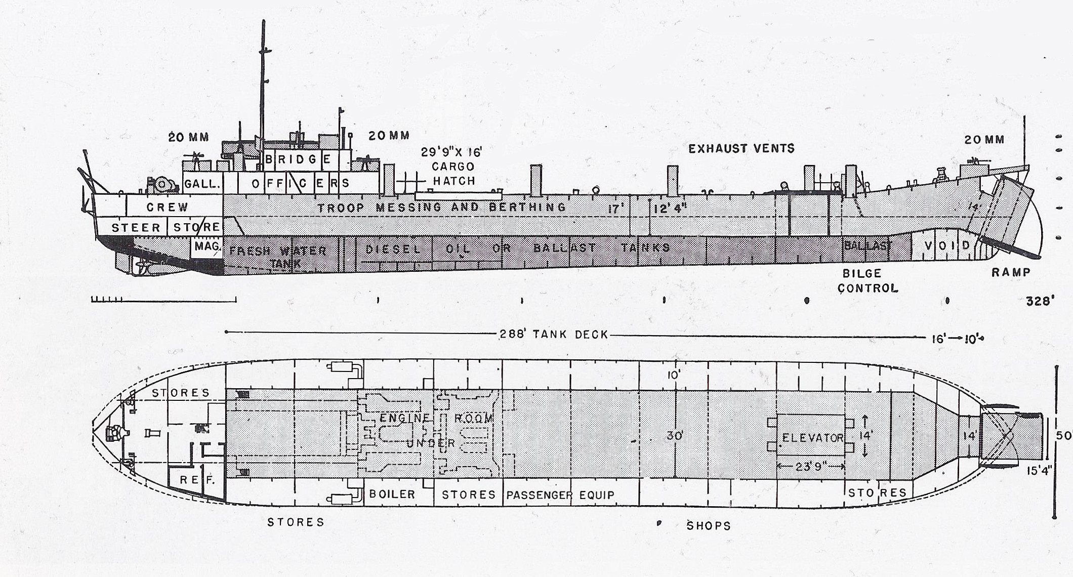diagram of titanic ship vy thermo fan wiring the pacific war online encyclopedia lst class allied