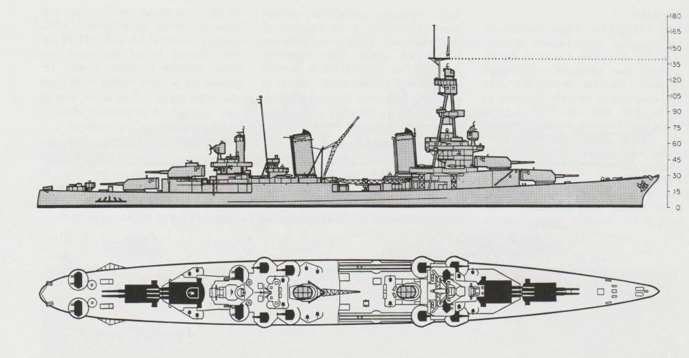 medium resolution of schematic diagram of pensacola class heavy cruiser