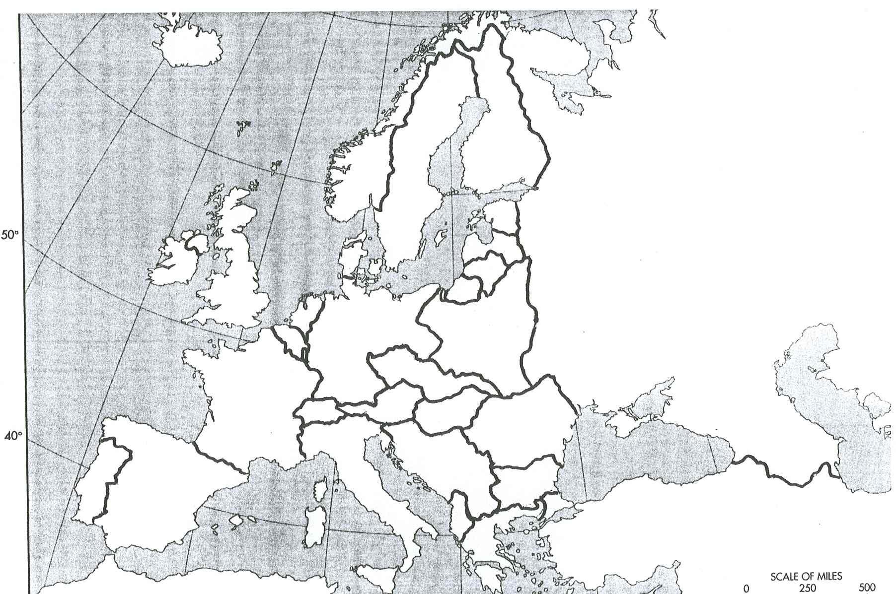 30 Ide Blank Map Of Europe Worksheet