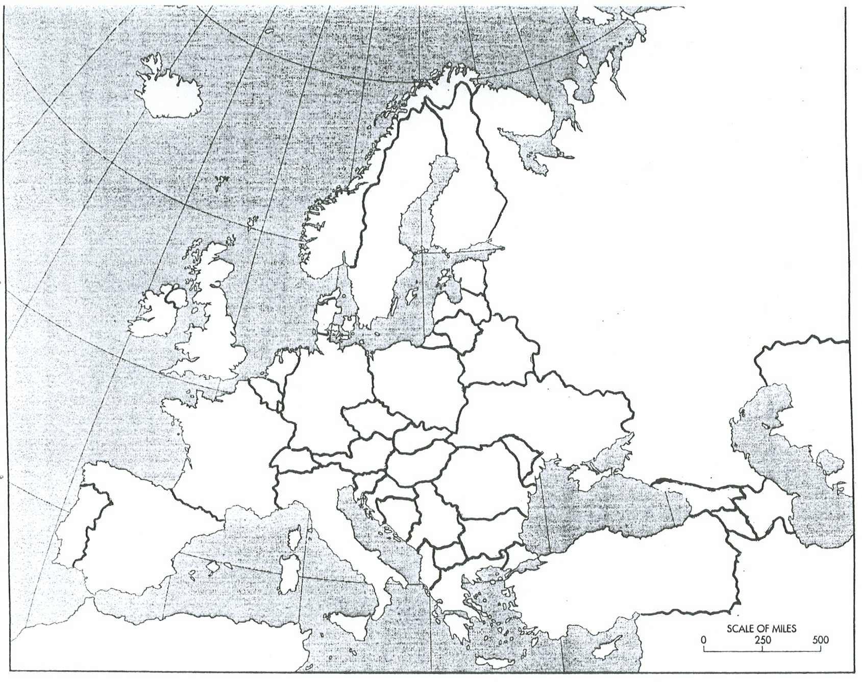 Paling Inspiratif Map Of Europe Before Ww1 Blank