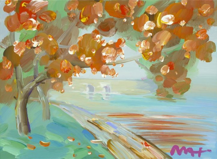 cherry blossom peter max park west gallery