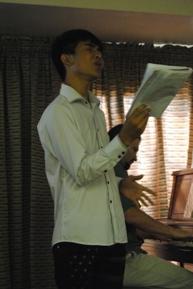 picture of young man singing