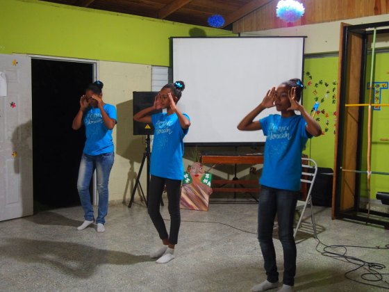 Dancers presenting their piece