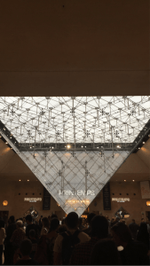 I.M. Pei pyramid at the Louvre