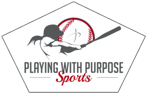 Playing With Purpose logo home plate