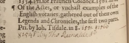 Annotations of additional editions