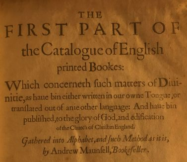 First English Bibliography, detail