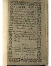 USTC 139280 A Catechism or Christian Doctrine, title page