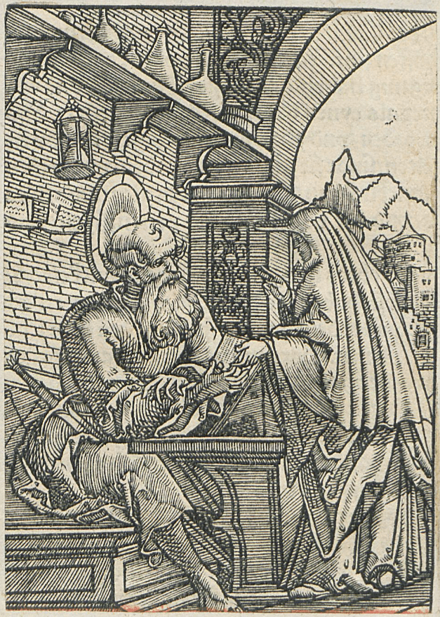 Woodcut illustration from catechism