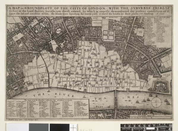 Map of London by Wenceslaus Hollar