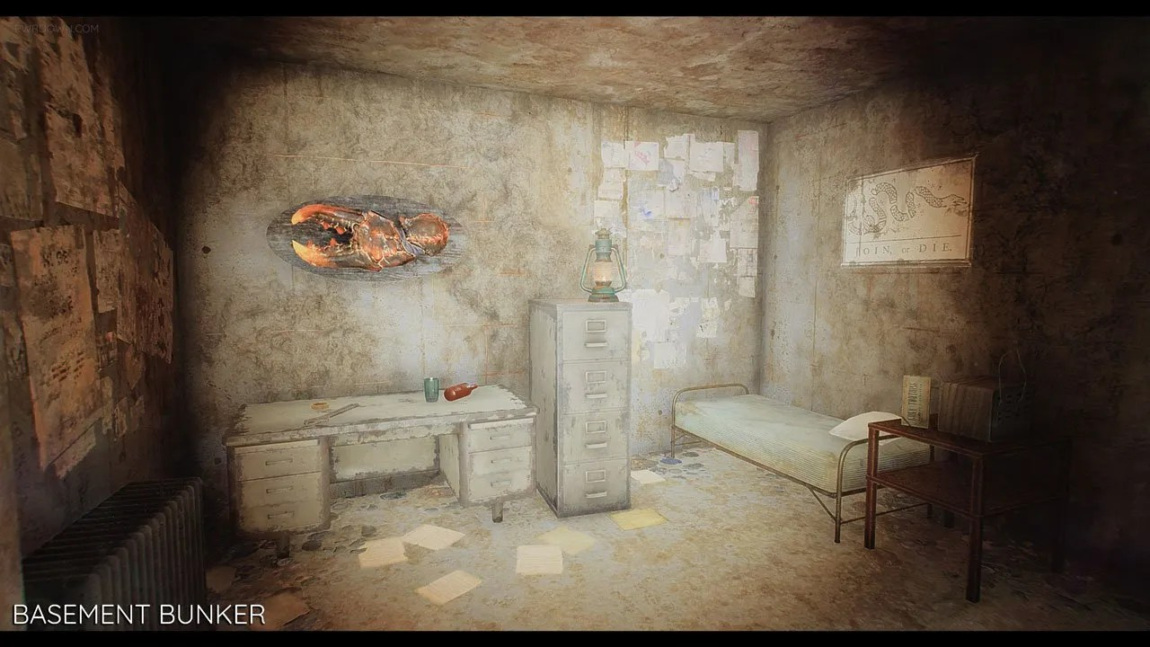 living room mattress furniture rooms fallout 4 bunkers mod. new player homes - pwrdown