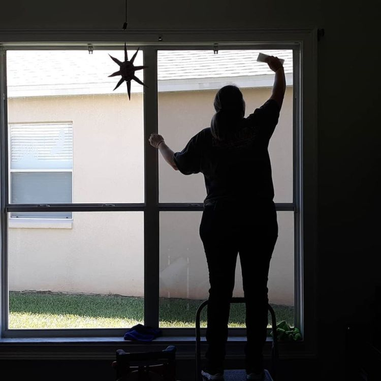 Installing window film in Heathrow Florida
