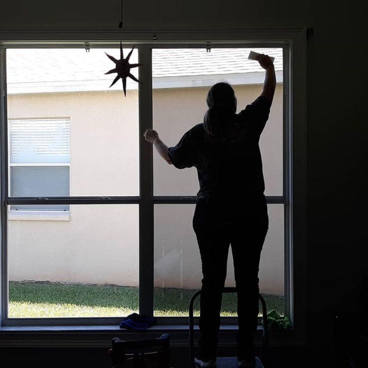 Installing residential window film
