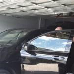 Oviedo, Florida installing window film in a garage