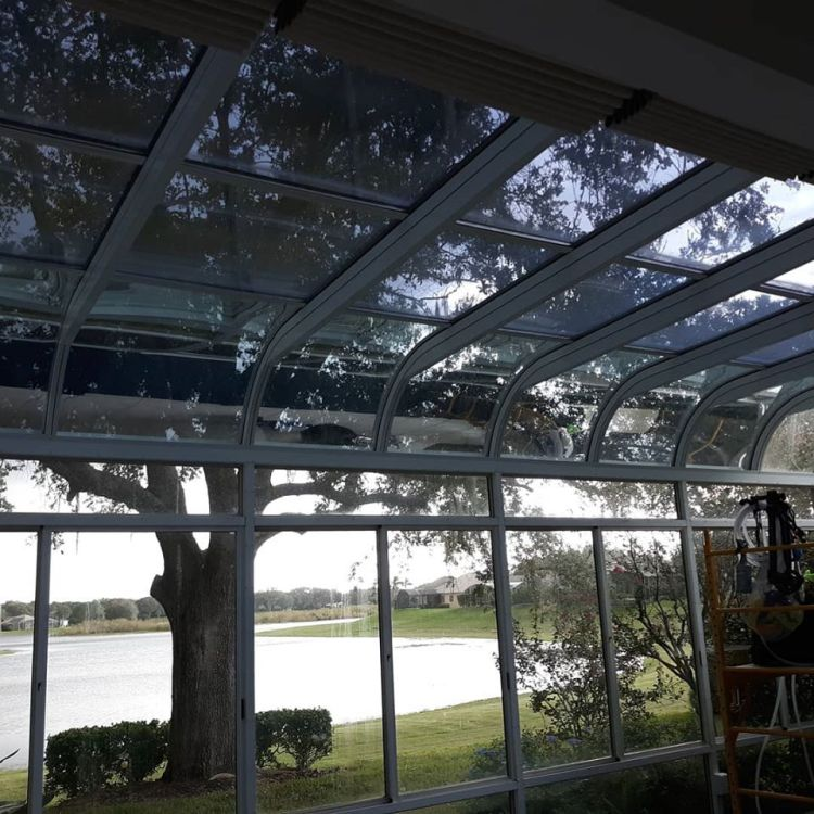 Florida sun room tinted with Llumar R20 window film.  Professional Window Tinting of Central FL LLC Services