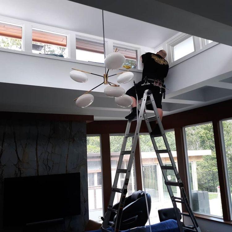 Installing window film in Longwood Florida