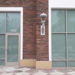 Frost window film installed on Casa Leon Jewelers