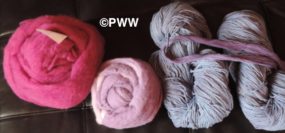 Andrea's dyed items using dye exhaust